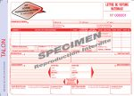 Lettre Voiture Nationale CDP PF