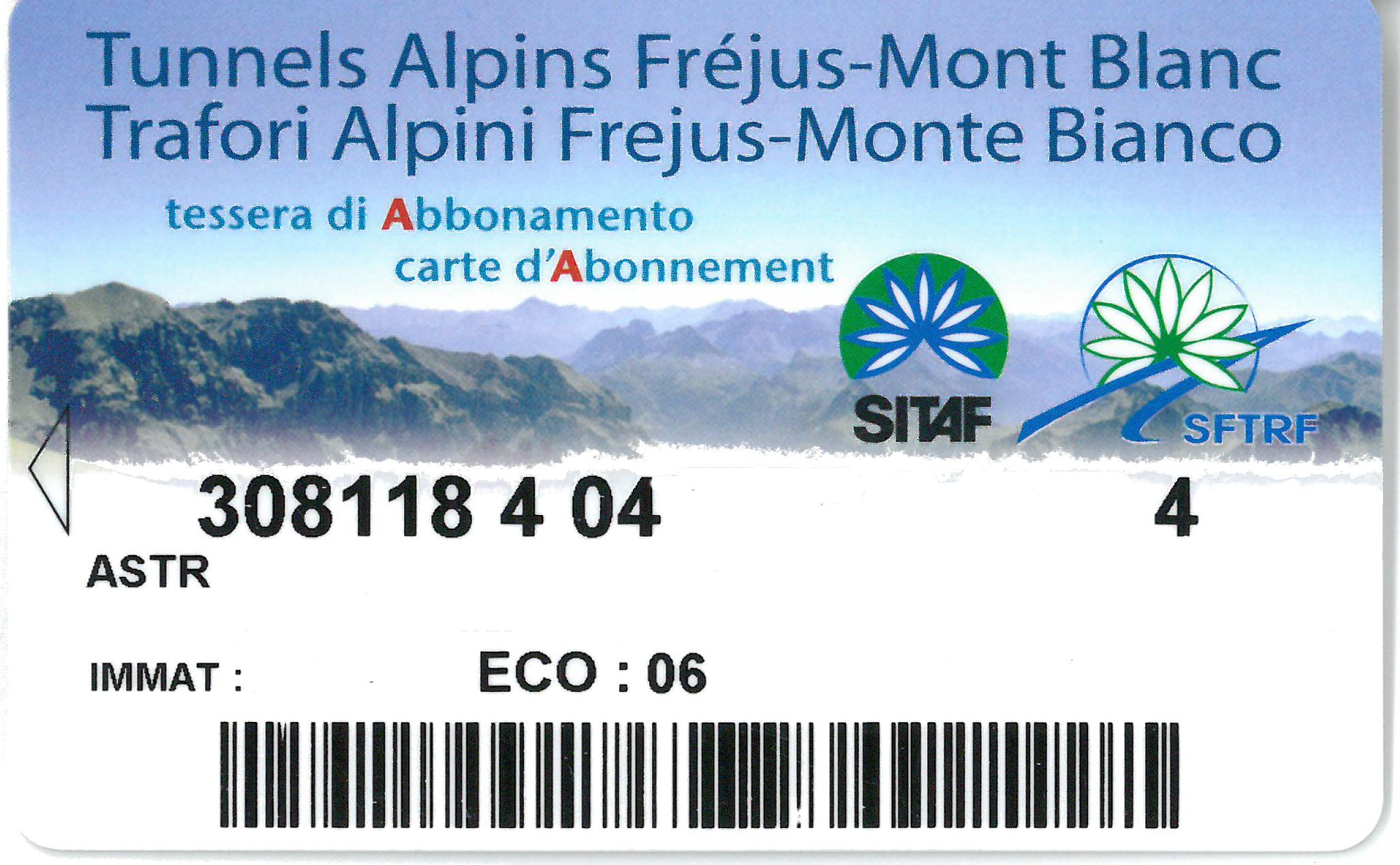 CARTE ABONNEMENT FREJUS-MT BLANC