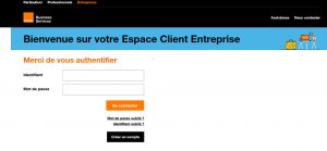 ORANGE - Espace Client Entreprise