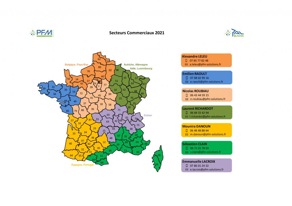 PALBANK-PFM Carte secteurs 2021